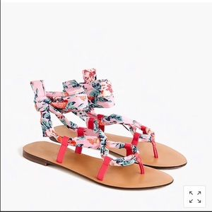 NWT J. Crew Liberty lace up sandals size 6.5
